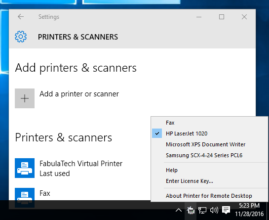 Click to view Printer for Remote Desktop screenshots